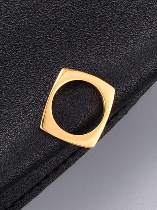 A TEEM Titanium Steel Hollow Round Minimalist Band Ring