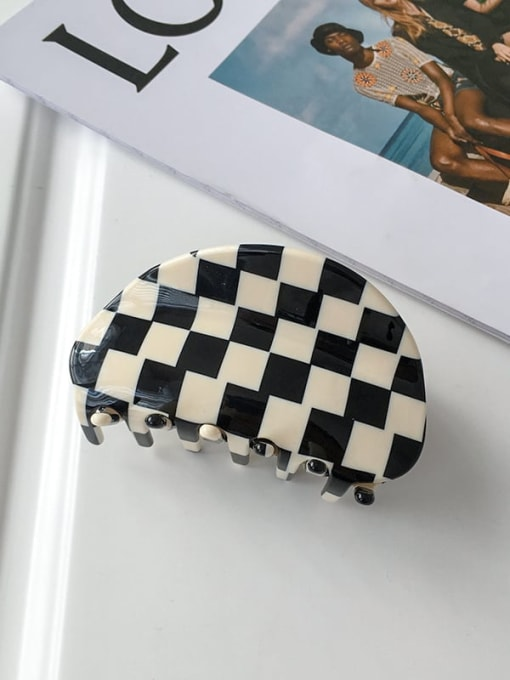 Black and white 9cm Alloy Cellulose Acetate Bohemia Geometric  Jaw Hair Claw