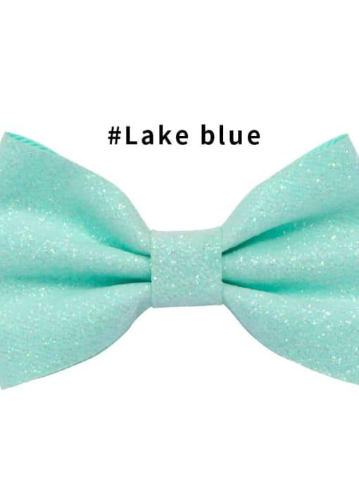 4 lake blue Alloy Fabric Cute Bowknot  Multi Color Hair Barrette