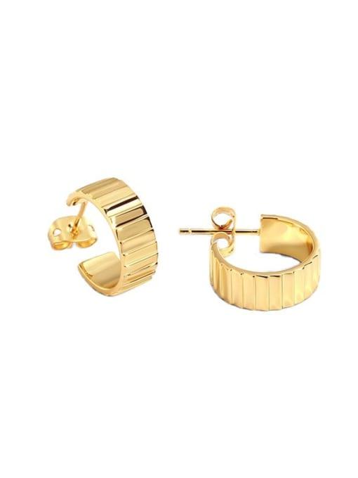 CHARME Brass Geometric Vintage Stud Earring 2
