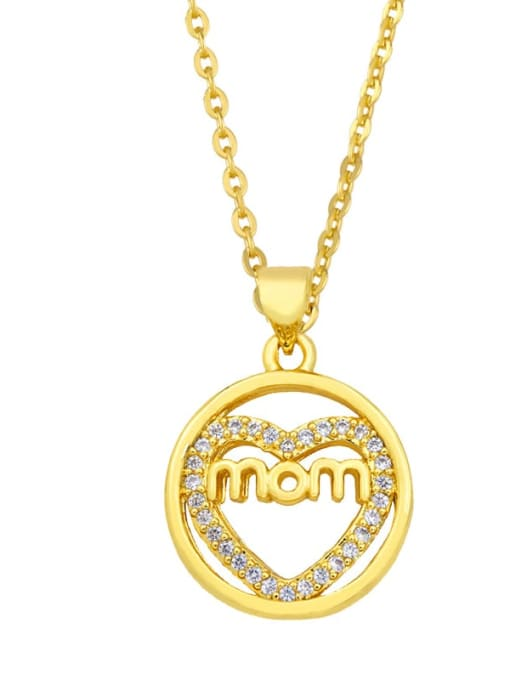 D Brass Cubic Zirconia Heart Vintage Necklace