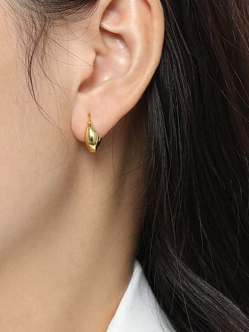 DAKA 925 Sterling Silver Geometric Vintage Huggie Earring 1