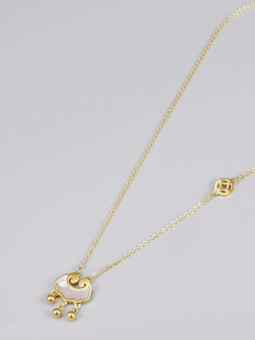A TEEM Titanium Steel Shell Locket Vintage Necklace 2