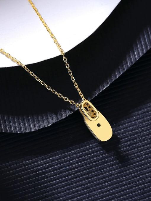 CCUI 925 Sterling Silver Rhinestone Geometric Minimalist Necklace 2