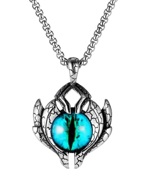 Open Sky Titanium Steel Evil Eye Hip Hop Necklace
