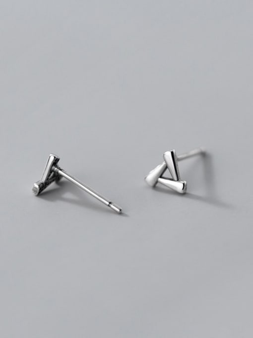 Rosh 925 Sterling Silver Hollow Triangle Minimalist Stud Earring 4