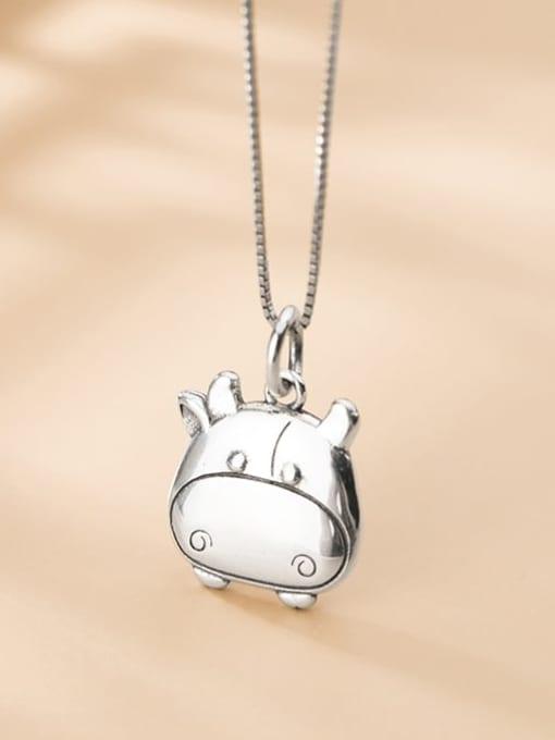 Rosh 925 Sterling Silver Minimalist Pig Pendant 3