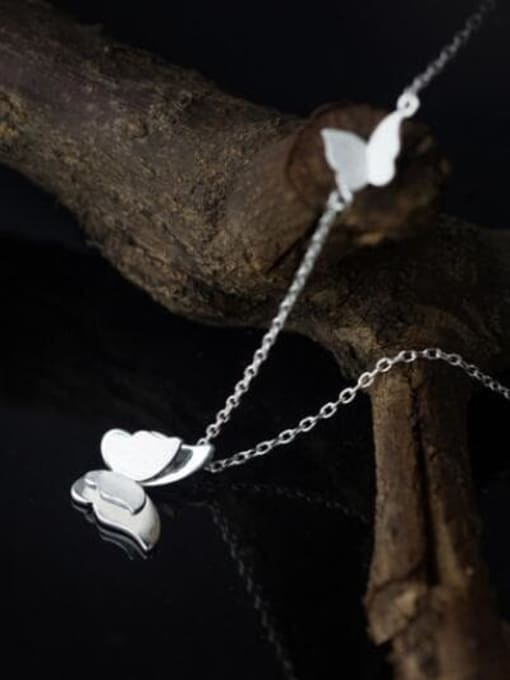 Rosh 925 Sterling Silver Butterfly Minimalist Necklace 2
