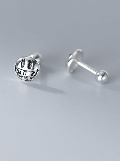 Rosh 925 Sterling Silver Smiley Vintage Stud Earring 1