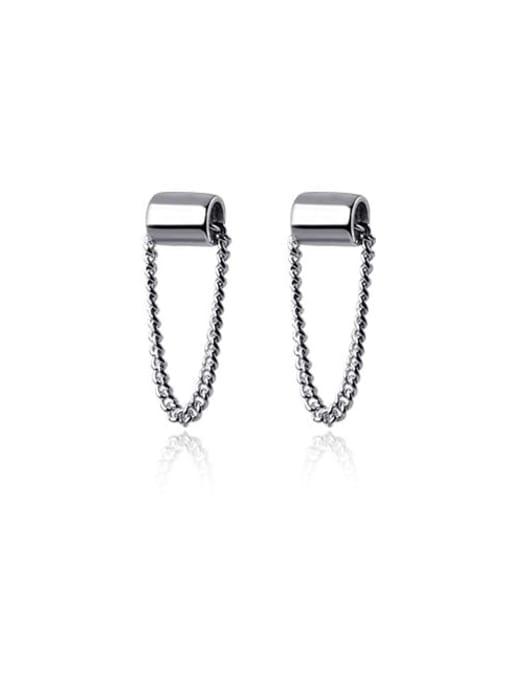 Rosh 925 Sterling Silver Geometric Trend Threader Earring 3