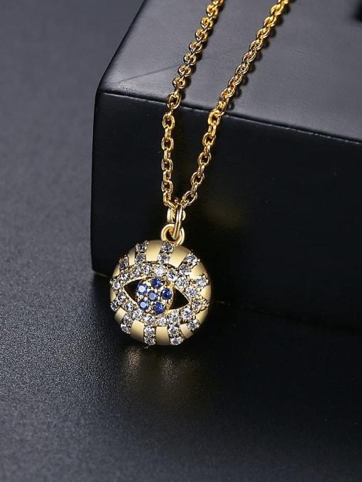 BLING SU Brass Cubic Zirconia Round Vintage Necklace 3