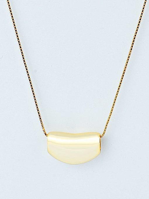 18K Gold 925 Sterling Silver Irregular Minimalist Necklace