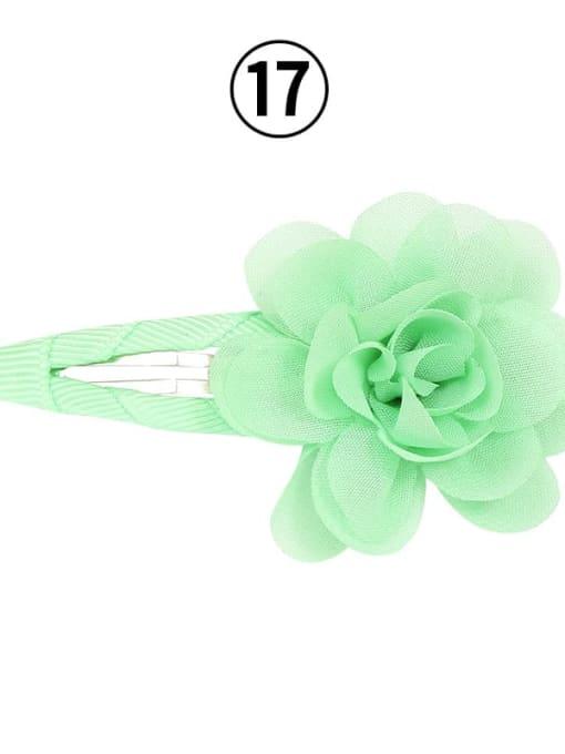 17 MINT Alloy Yarn Minimalist Flower  Multi Color Hair Barrette