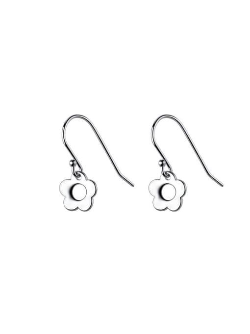 Rosh 925 Sterling Silver Flower Minimalist Hook Earring 3