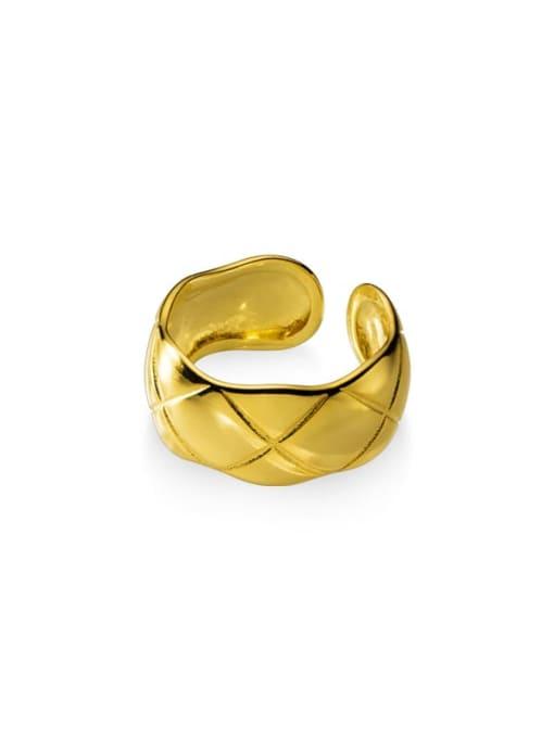 Rosh 925 Sterling Silver Geometric Rhombus Vintage Band Ring