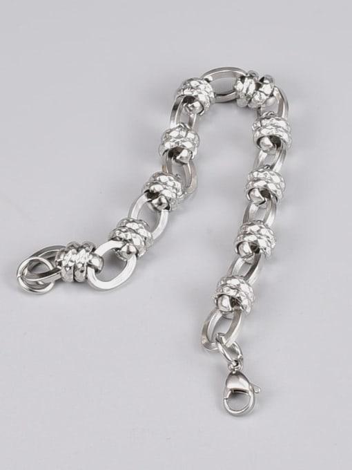 A TEEM Titanium Steel Irregular Vintage Link Bracelet 2