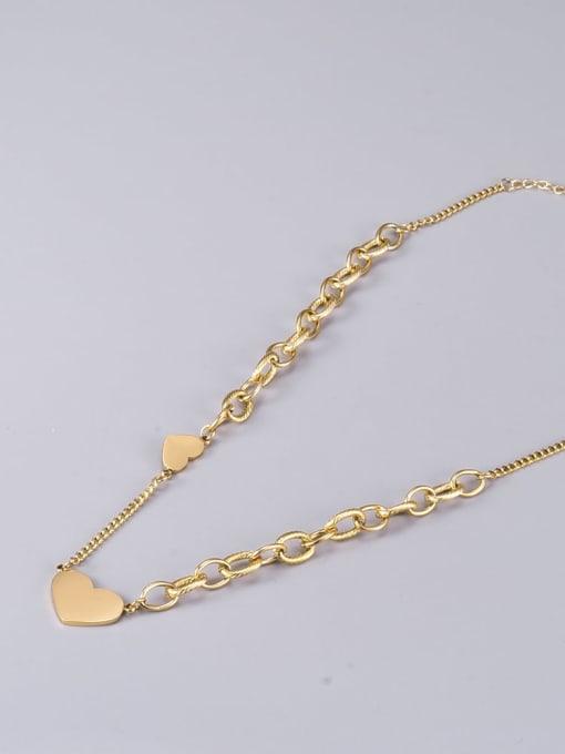 A TEEM Titanium Steel Heart Minimalist Necklace 4