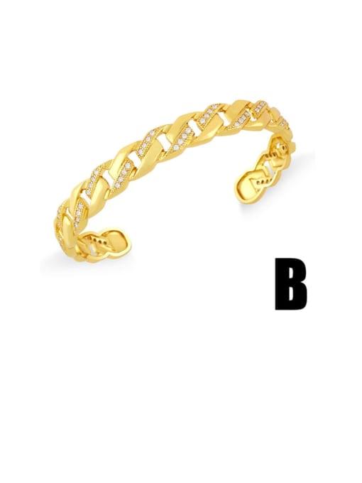 CC Brass Cubic Zirconia Snake Vintage Cuff Bangle 3
