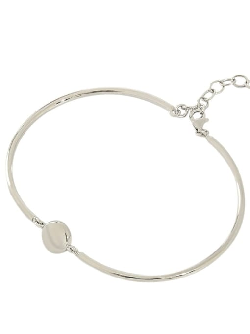 DAKA 925 Sterling Silver Geometric Minimalist Adjustable Bracelet 3