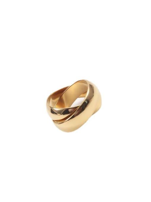 GROSE Titanium Steel Geometric Minimalist Stackable Ring 2