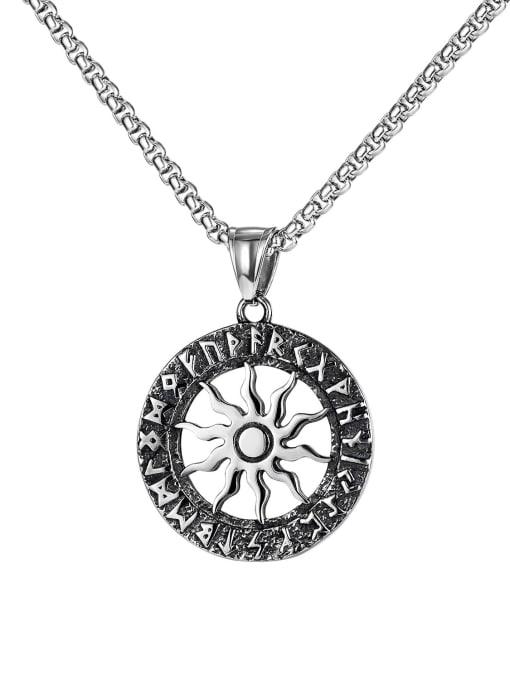 Open Sky Titanium Steel Geometric Hip Hop Necklace