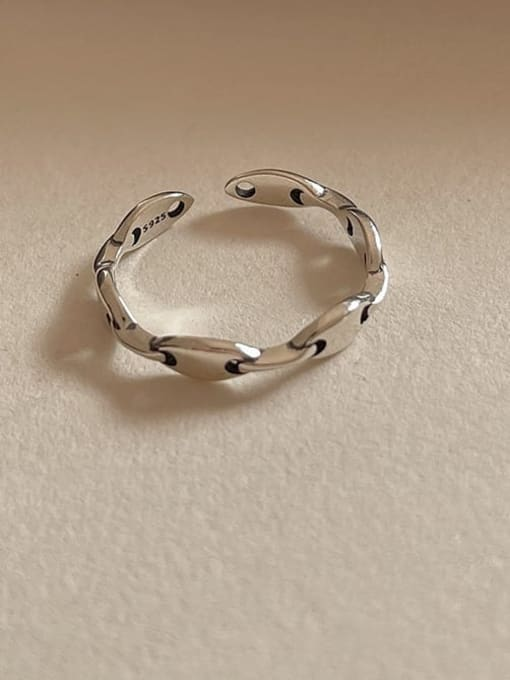 Rijie 1591 925 Sterling Silver Geometric Vintage Band Ring