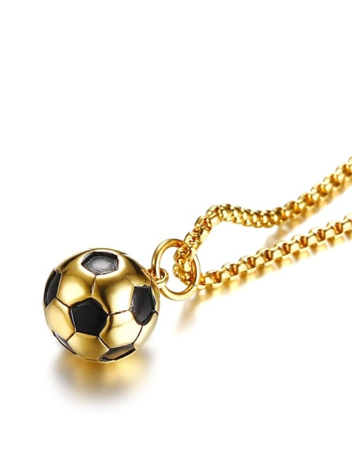 CONG Stainless steel Enamel football Minimalist Necklace 3