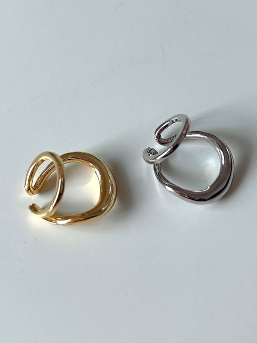 Boomer Cat 925 Sterling Silver Geometric Vintage Clip Earring 1