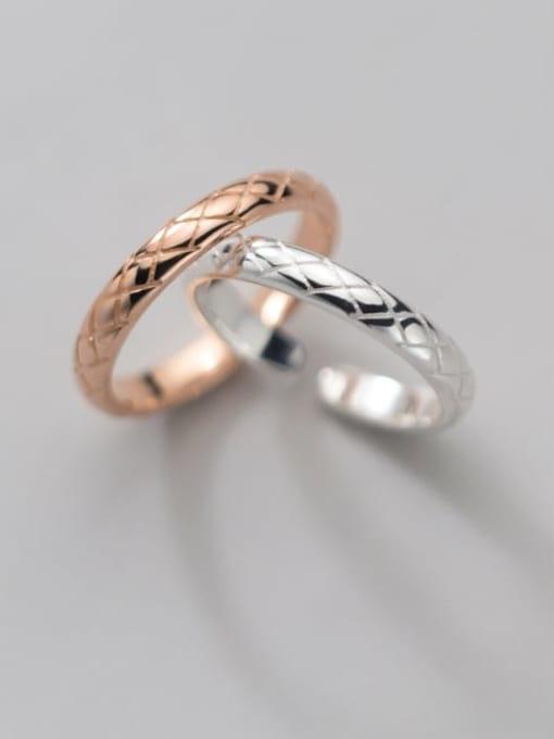 Rosh 925 Sterling Silver Rhinestone Round Minimalist Band Ring 1