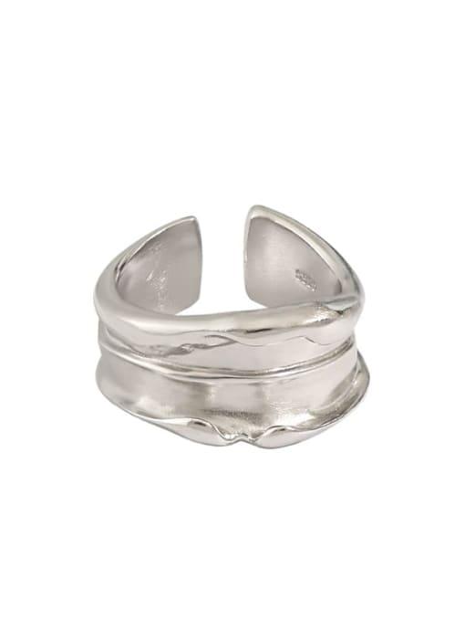 DAKA 925 Sterling Silver Irregular Vintage Band Ring 4