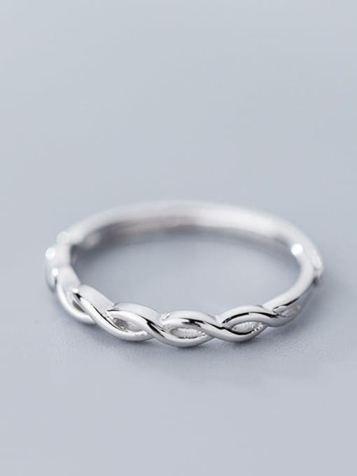 Rosh 925 Sterling Silver hollow Cross Minimalist Band Ring 1