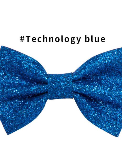 7 technology blue Alloy Fabric Cute Bowknot  Multi Color Hair Barrette