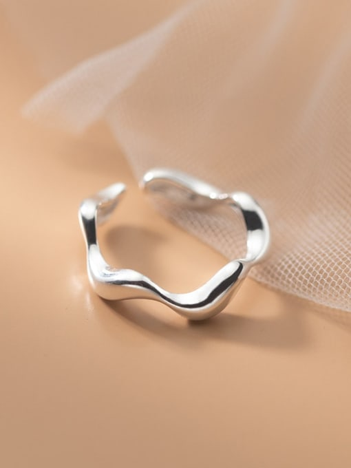 Rosh 925 Sterling Silver Smooth Heart Minimalist Band Ring 1
