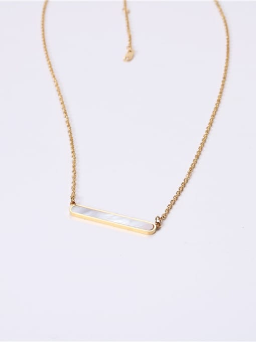 GROSE Stainless steel Shell Geometric Minimalist Necklace 3