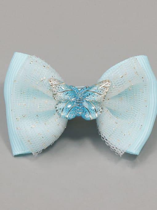 7 elf blue butterfly Alloy Yarn Cute Bowknot  Multi Color Hair Barrette