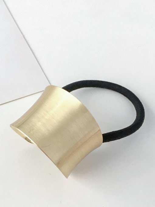 8 golden curved ellipse Rubber band Minimalist Geometric Alloy Hair Rope