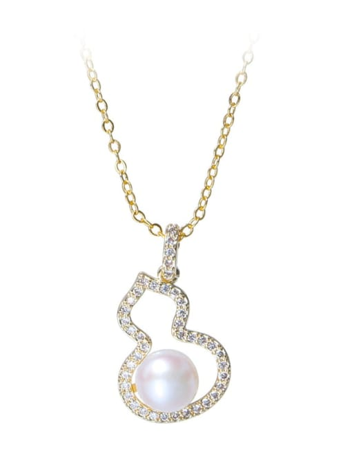 RAIN Brass Freshwater Pearl Irregular Trend Necklace 4