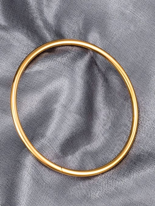 A TEEM Titanium Round Minimalist Band Bangle 2