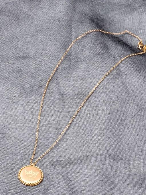 A TEEM Titanium Steel Crown Vintage Necklace 2