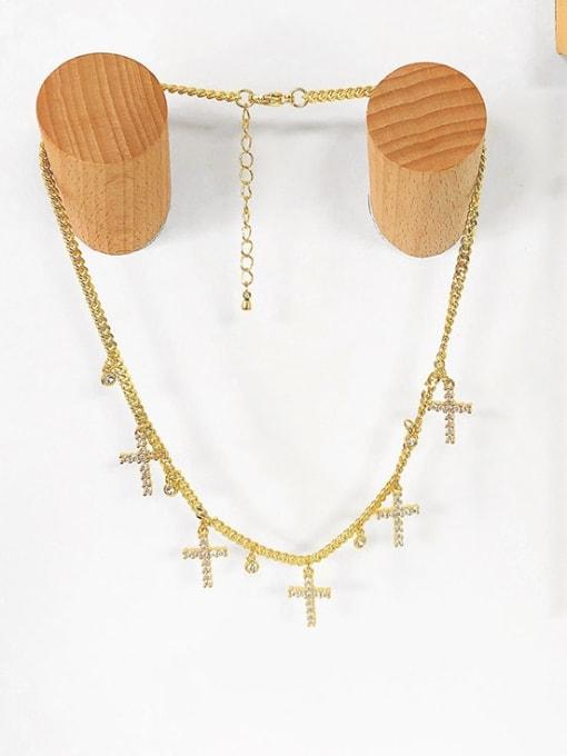 CC Brass Cubic Zirconia Tassel Vintage Necklace 2