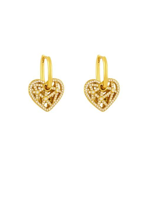 B Brass Cubic Zirconia Tassel Minimalist Drop Earring