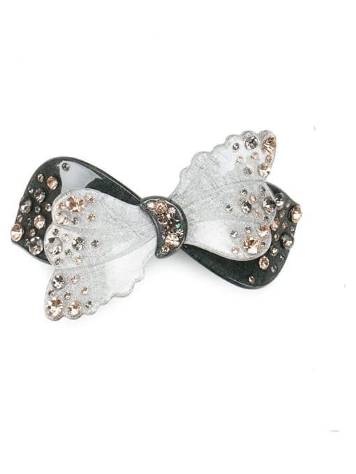 HUIYI Cellulose Acetate Cute Butterfly Zinc Alloy Spring clip Hair Barrette 1
