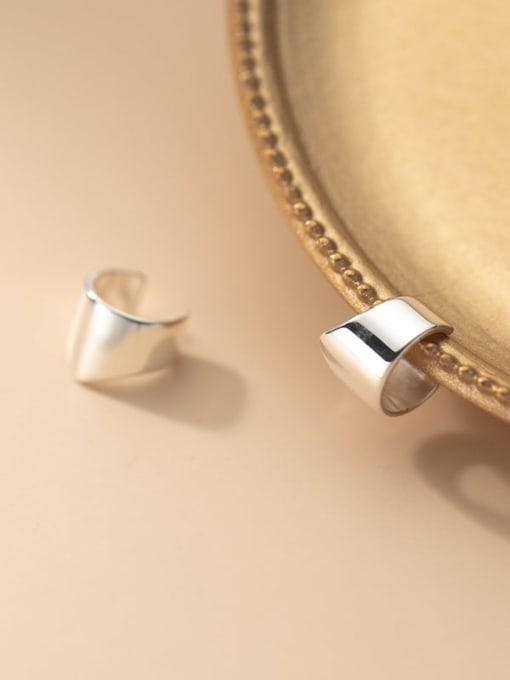 Rosh 925 Sterling Silver Geometric Minimalist Clip Earring 2
