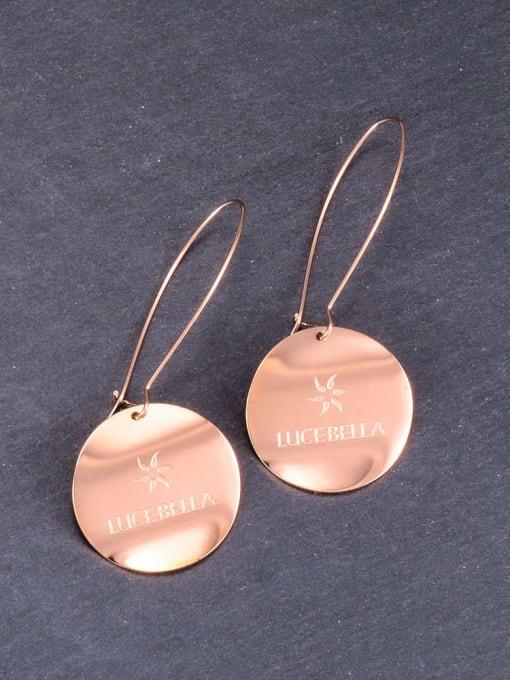 A TEEM Titanium Letter Minimalist Hook Earring