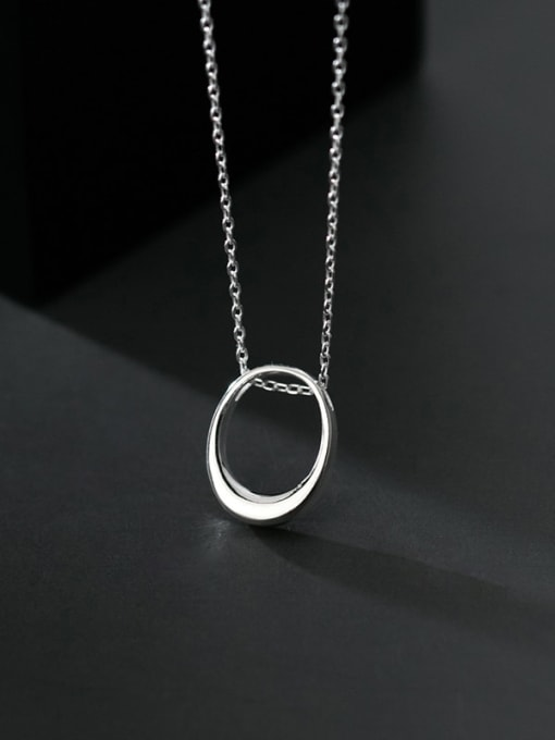 Rosh 925 Sterling Silver  Hollow Geometric Minimalist Necklace 4