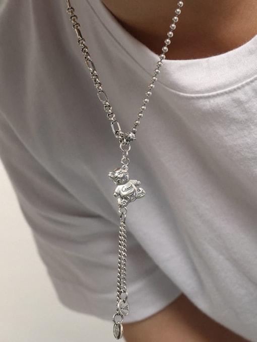 DAKA 925 Sterling Silver Tassel Vintage Tassel Necklace 3