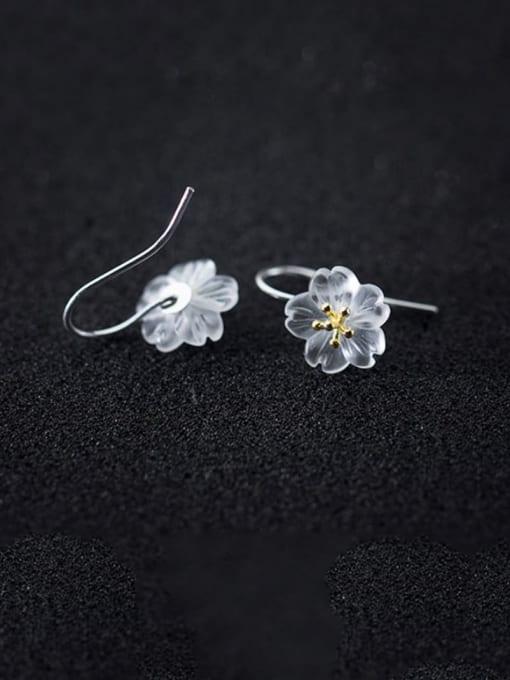 Rosh 925 Sterling Silver Acrylic Flower Minimalist Stud Earring 0