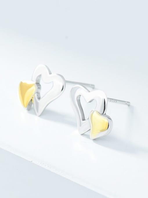 XBOX 925 Sterling Silver Heart Minimalist Stud Earring 0