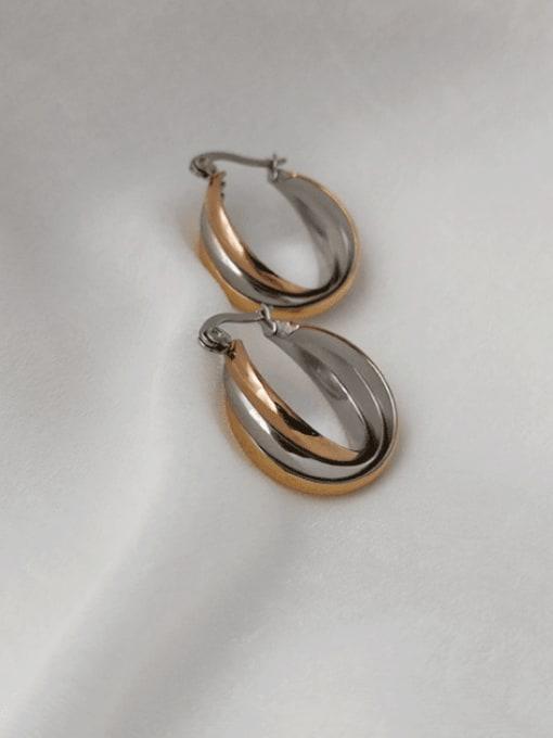 CONG Titanium Steel Geometric Minimalist Hook Earring 1