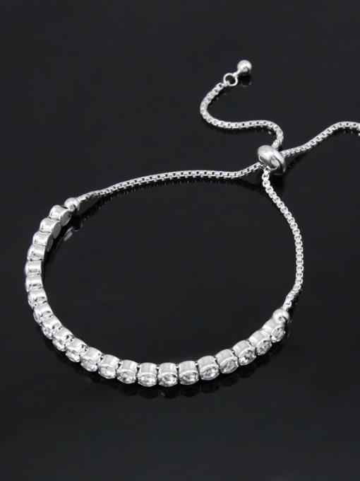CC Alloy Cubic Zirconia Geometric Bohemia Adjustable Bracelet 3